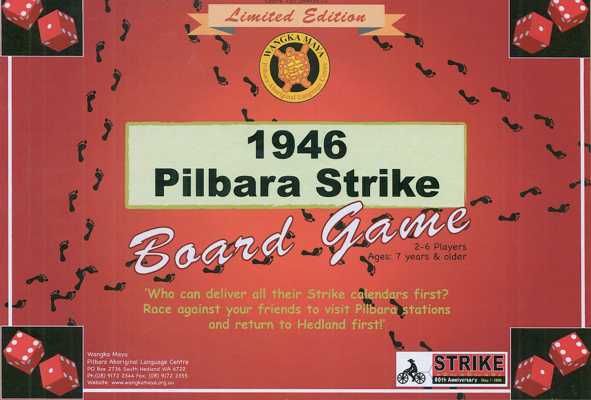 The 1946 Pilbara Strike Board Game Cover